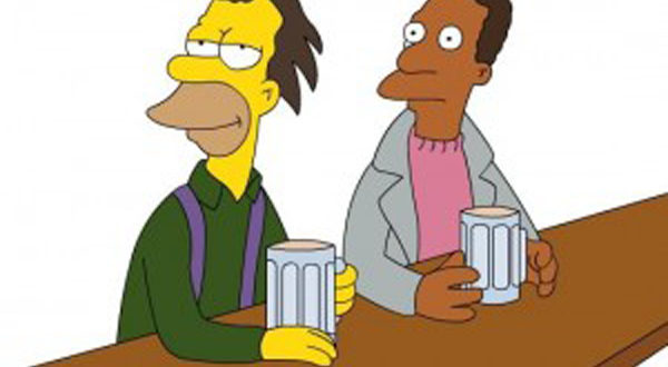 carl and Lenny from the Simpsons