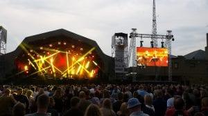 Outdoor music concert in Dublin city